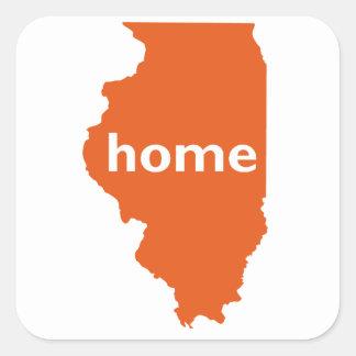 Maison de l'Illinois Sticker Carré