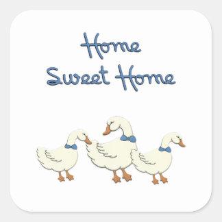 Maison douce à la maison sticker carré