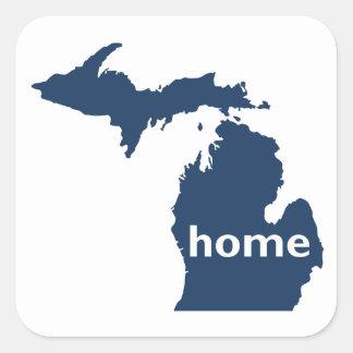 Maison du Michigan Sticker Carré