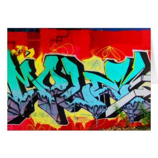 Maison-Graffiti 1 d'art de Carte pour notes-Amour