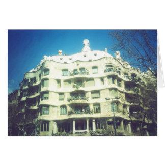 Maison Mila par Antoni Gaudi Cartes De Vœux