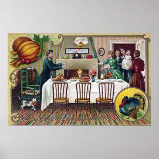 Maison pour le thanksgiving poster