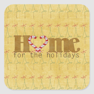 Maison pour les vacances sticker carré