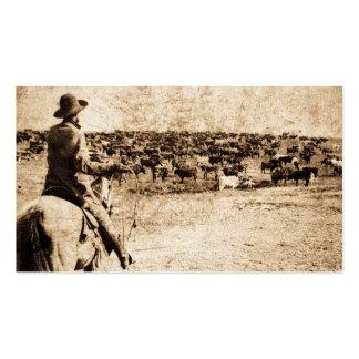 Maison sur ouest de cowboy vintage de gamme le vie cartes de visite personnelles