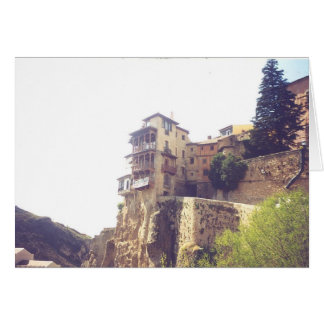 Maisons accrochantes de Cuenca Espagne Carte De Vœux