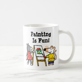 Maisy and Dotty Paint at Preschool Classic White Coffee Mug