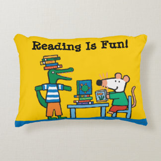 Maisy and Friends Enjoy the Library Decorative Pillow
