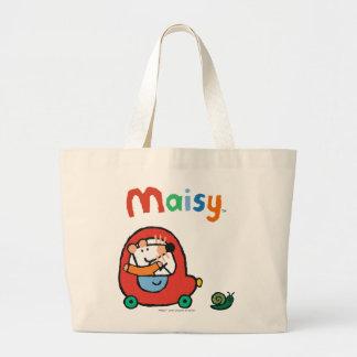 Maisy Drives a Cute Red Car Jumbo Tote Bag