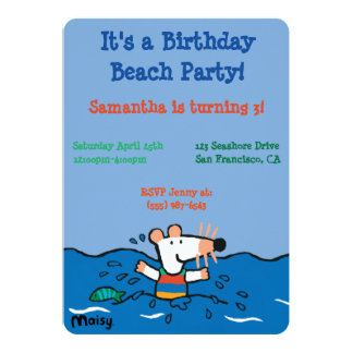 Maisy Goes Swimming Birthday Card