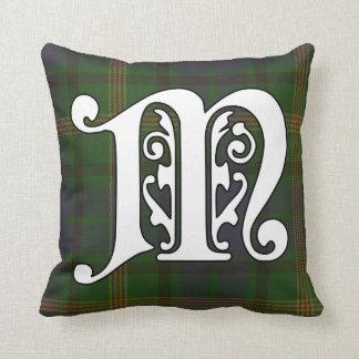 Maitland Clan Tartan Monogram Throw Pillow