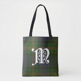 Maitland Clan Tartan Monogram Tote Bag