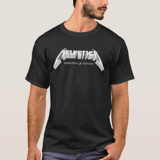 Maître helvetica de chemise de polices t-shirt