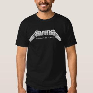 Maître helvetica de chemise de polices tee shirt