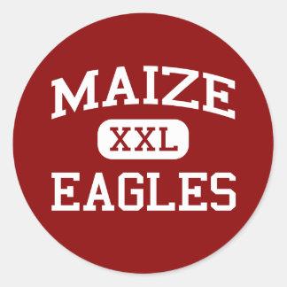 Maize - Eagles - Middle School - Maize Kansas Round Sticker