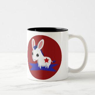 Maize the Democratic Donkey Two-Tone Coffee Mug