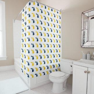 Maize Yellow and Blue State of Michigan Pattern