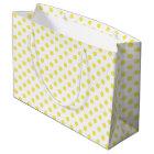 Maize Yellow Polka Dots Circles Large Gift Bag