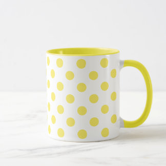 Maize Yellow Polka Dots Circles Mug