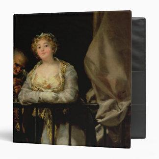 Maja and Celestina on a Balcony, 1805-12 3 Ring Binder