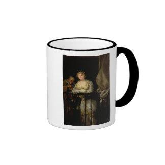 Maja and Celestina on a Balcony, 1805-12 Coffee Mug