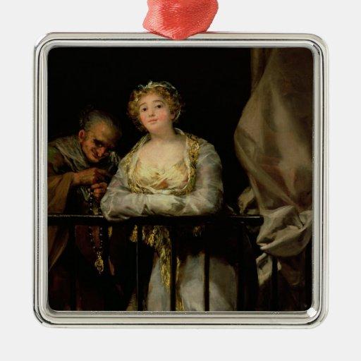 Maja and Celestina on a Balcony, 1805-12 Christmas Tree Ornament