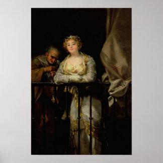Maja and Celestina on a Balcony, 1805-12 Poster