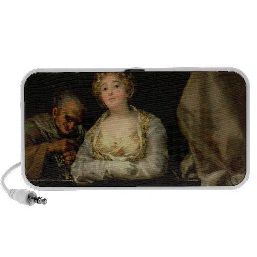 Maja and Celestina on a Balcony, 1805-12 iPhone Speaker