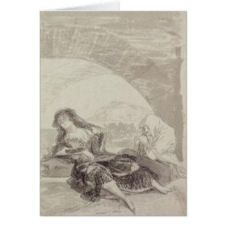 Maja and Celestina under an arch Greeting Card