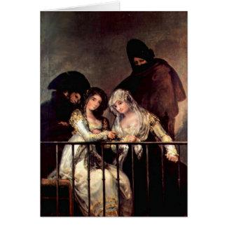 Majas On A Balcony By Francisco De Goya Card