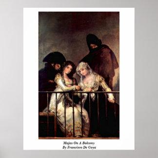 Majas On A Balcony By Francisco De Goya Posters