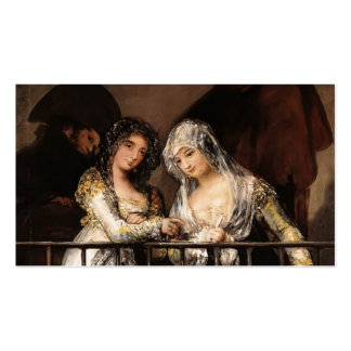 Majas on a Balcony by Francisco Goya Double-Sided Standard Business Cards (Pack Of 100)