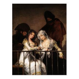 Majas on a Balcony by Francisco Goya Postcard
