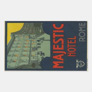 Majectic Rome Hotel Sticker