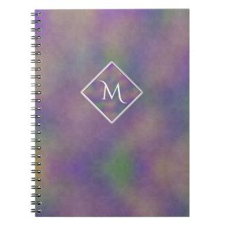 Majenta Purple Gold Initial Geometric Notebook