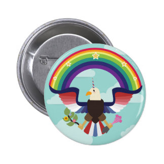 Majestic American Sheagle 2 Inch Round Button