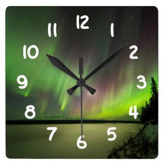 Majestic Aurora Square Wall Clock