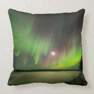 Majestic Aurora Throw Pillow