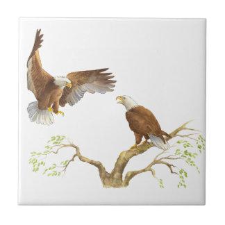 Majestic Bald Eagles Ceramic Tiles