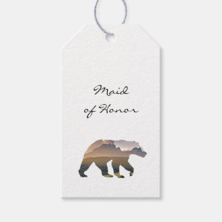 Majestic Bear Wedding Escort Card Pack Of Gift Tags