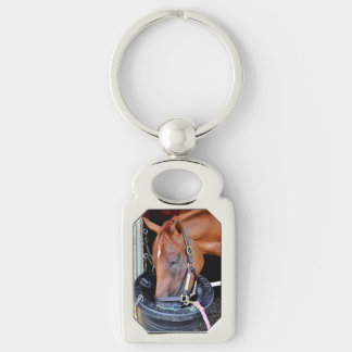 Majestic Bonnie Silver-Colored Rectangle Keychain