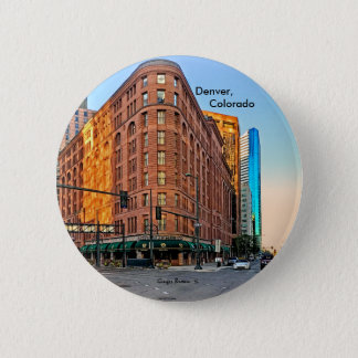 Majestic Brown Palace Hotel At Sunset, Denver, CO 2 Inch Round Button