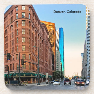 Majestic Brown Palace Hotel At Sunset, Denver, CO Beverage Coaster