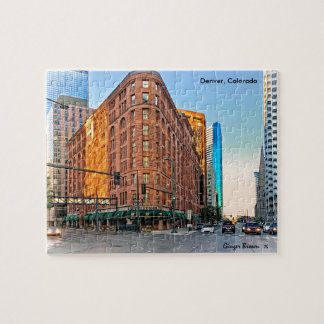 Majestic Brown Palace Hotel At Sunset, Denver, CO Jigsaw Puzzle