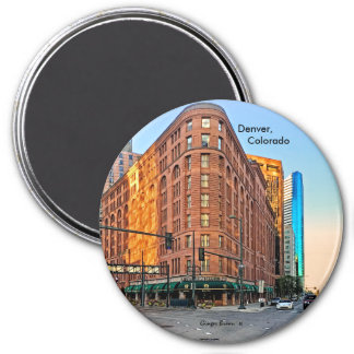 Majestic Brown Palace Hotel At Sunset, Denver, CO Magnet