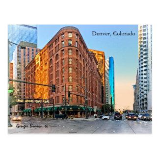 Majestic Brown Palace Hotel At Sunset, Denver, CO Postcard