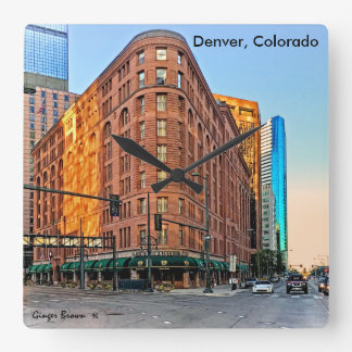 Majestic Brown Palace Hotel At Sunset, Denver, CO Wall Clock
