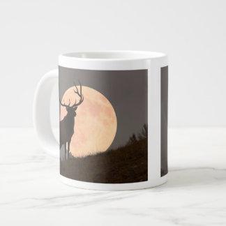 Majestic Bull Elk and Full Moon Rise Large Coffee Mug