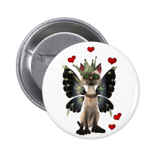 Majestic cat 2 inch round button