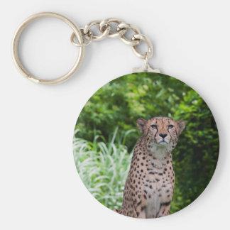 Majestic Cheetah Basic Round Button Keychain