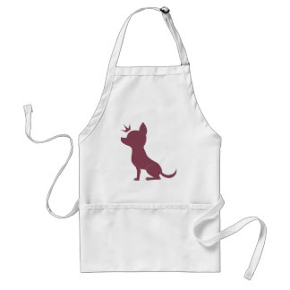 Majestic Chihuahua on Pink Leopard Print Standard Apron
